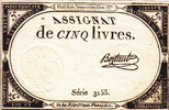 5 Livres 1793 France ASSIGNAT P.A76 vz