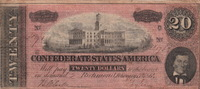 20 Dollars 1864 Confederate States of Amer...