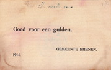 1 Gulden(NOODGELD)PL800.4 1914 Netherlands...