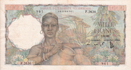 1.000 Francs 1951 French West Africa WOMAN P.42 XF+  675,00 EUR  +  20,00 EUR shipping