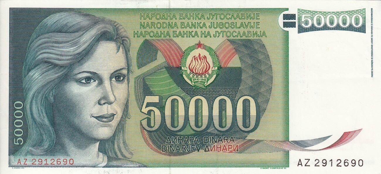 Yugoslavia 5000 Dinara 1993 UNC Pick 128 Lemberg-Zp