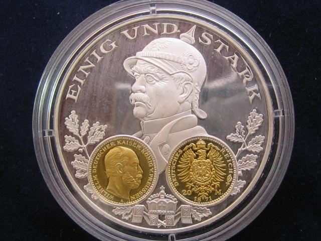 1200 Jahre Deutsche Münze Gedenkprägung I20 Goldmark 1871i
