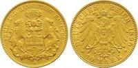 10 Mark Gold 1890  J Hamburg  Sehr schön -...