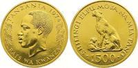 1500 Shilingi Gold 1974 Tanzania  Stempelg...