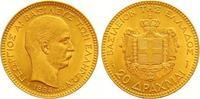 20 Drachmen Gold 1884 Griechenland Georg I...