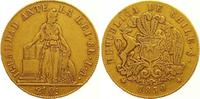 8 Escudos Gold 1850 Chile Republik. Seit 1...