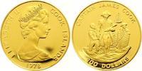 200 Dollars Gold 1978 Cook Islands Elizabe...