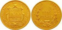 10 Pesos Gold 1870  GW Costa Rica Republik...