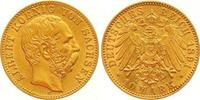 10 Mark Gold 1891  E Sachsen Albert 1873-1...