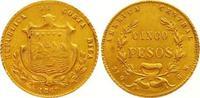 5 Pesos Gold 1867  GW Costa Rica Republik ...