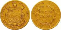 5 Pesos Gold 1875  GW Costa Rica Republik ...