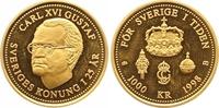 1000 Kronen Gold 1998 Schweden Carl XVI. Gustav seit 1973. Polierte Pla... 235,00 EUR  +  7,00 EUR shipping