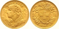 20 Franken Gold 1947  B Schweiz-Eidgenossenschaft  Vorzüglich - Stempel... 265,00 EUR  +  7,00 EUR shipping