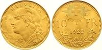 10 Franken Gold 1922  B Schweiz-Eidgenossenschaft  Vorzüglich - Stempel... 165,00 EUR  +  7,00 EUR shipping