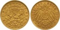 10 Mark Gold 1907  J Bremen  Vorzüglich