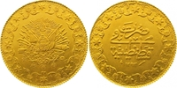 500 Piaster Gold 1293 AH Türkei Abdul Hami...