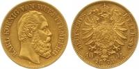 10 Mark Gold 1873  F Württemberg Karl 1864-1891. Vorzüglich +  385,00 EUR  +  7,00 EUR shipping