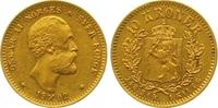 10 Kronen Gold 1902 Norwegen Oscar II. 1872-1905. Vorzüglich  2250,00 EUR free shipping