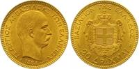 20 Drachmen Gold 1884 Griechenland Georg I. 1863-1913. Vorzüglich +  365,00 EUR  +  7,00 EUR shipping