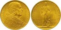 100 Lire Gold 1933 Italien-Vatikan Pio XI. 1922-1939. Vorzüglich - Stem... 385,00 EUR  +  7,00 EUR shipping