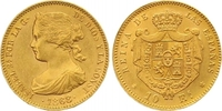 10 Escudos Gold 1868 Spanien Isabel II. 18...