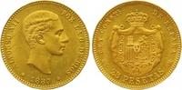 25 Pesetas Gold 1880 Spanien Alfonso XII. 1874-1885. Vorzüglich +  365,00 EUR  +  7,00 EUR shipping