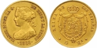 4 Escudos Gold 1865 Spanien Isabel II. 183...