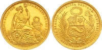 50 Soles Gold 1951 Peru Republik seit 1821...