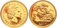 1/2 Sovereign Gold 2010 Großbritannien Eli...