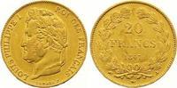 20 Francs Gold 1847  A Frankreich Louis Ph...