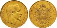 50 Francs Gold 1855  A Frankreich Napoleon...