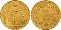 100 Francs Gold 1908  A Frankreich Dritte ...