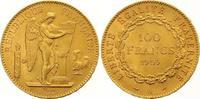 100 Francs Gold 1909  A Frankreich Dritte ...
