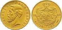 20 Lei Gold 1883 Rumänien Carol I. 1866-19...