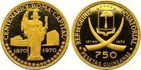 750 Pesetas Gold 1970 Äquatorial Guinea Re...