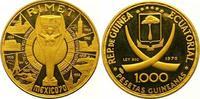 1000 Pesetas Gold 1970 Äquatorial Guinea R...