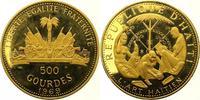 500 Gourdes Gold 1969 Haiti Republik nach ...