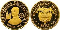 200 Pesos Gold 1968 Kolumbien Republik sei...