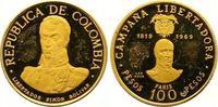 100 Pesos Gold 1969  NI Kolumbien Republik seit 1886. Kleine Kratzer, k... 175,00 EUR  +  7,00 EUR shipping