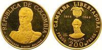 200 Pesos Gold 1969  NI Kolumbien Republik...