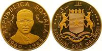 200 Shillings Gold 1965 Somalia Republik. Ab 1950. Stempelglanz  1150,00 EUR free shipping