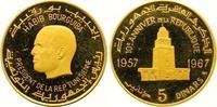 5 Dinars Gold 1967 Tunesien Republik seit ...