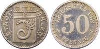 Silberabschlag von den Stempeln des 50 P 1...