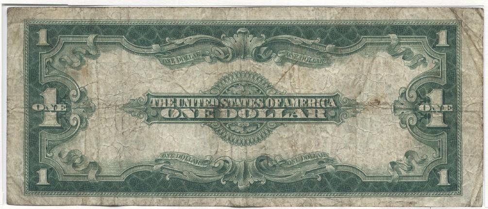 1 Dollar 1923 USA Large Silver Certificate, Washington. Speelman-White Very Good-Fine