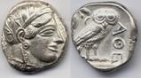 Tetradrachm 454-404 BC Attica / Attika Athens / Stadt Athen - fine style / Feiner Stil fast vorzueglich