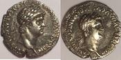 AR Didrachm / Didrachme 63-65 AD CAPPADOCIA / Kappadokien Caesaraea-Eusebia - Nero 54-68 AD - Divus Claudius gutes sehr schön