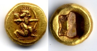 AV 1/12 Daric / 1/12 Dareike ca 505-480 BC Persia / Persien ACHAEMENID EMPIRE, time of Darios I to Xerxes I vorzueglich
