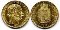 8 Forint / Gulden 1884 KB Österreich-Ungar...