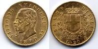 20 Lire 1870 Torino Italy / Italien Vittor...