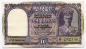 10 Rupees / 10 Rupien 1943 India / indien ...
